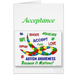 Autism Note Cards
