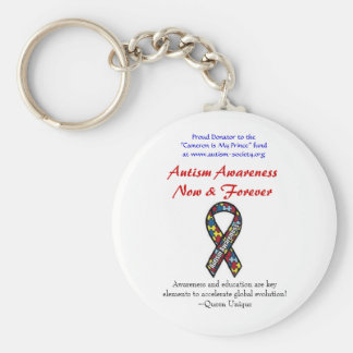 Autism Now & Forever Keychain