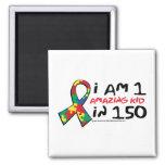 Autism: One Amazing Kid Fridge Magnet