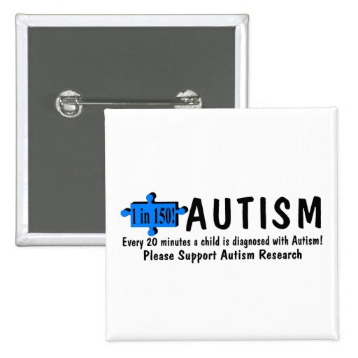Autism One Every 20 Minutes Pinback Buttons