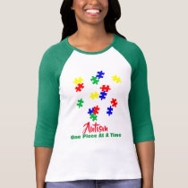 Autism One PieceAt A Time   Sleeve Raglan (Fitted) T-Shirt