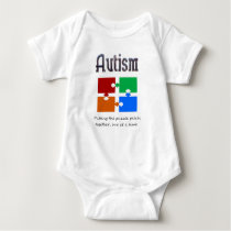 Autism one puzzle piece at a time baby bodysuit