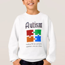 Autism one puzzle piece at a time sweatshirt