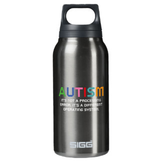 Autism Operating System Insulated Water Bottle