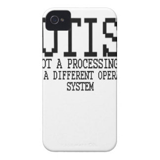 Autism Operating System '.png Case-Mate iPhone 4 Case