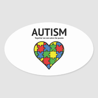 Autism Oval Sticker