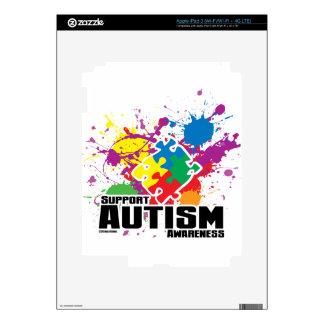 Autism Paint Splatter Decals For iPad 3