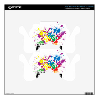 Autism Paint Splatter PS3 Controller Skins