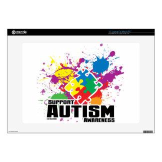 "Autism Paint Splatter Skin For 15"" Laptop"