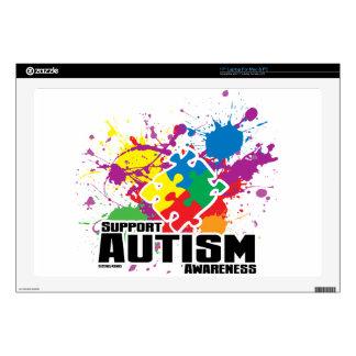 "Autism Paint Splatter Skin For 17"" Laptop"