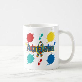 Autism painted coffee mug