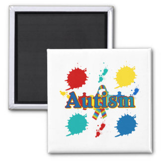 Autism painted magnet