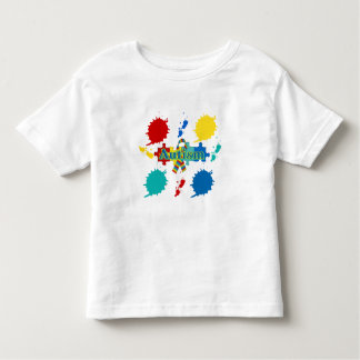 Autism painted toddler t-shirt