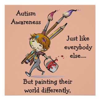 Autism Painting Perfect Poster