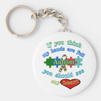 Autism Parent Basic Round Button Keychain