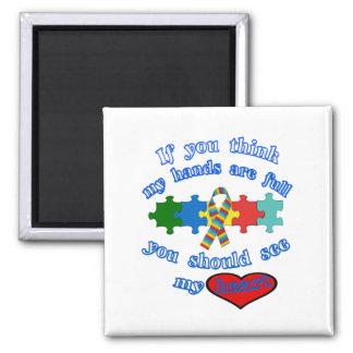 Autism Parent 2 Inch Square Magnet