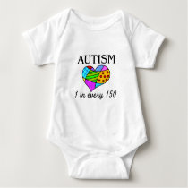 Autism Patch Heart Baby Bodysuit