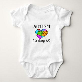 Autism Patch Heart Baby Bodysuit