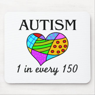 Autism Patch Heart Mouse Pad