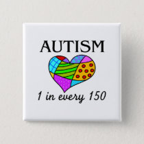 Autism Patch Heart Pinback Button