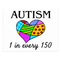 Autism Patch Heart Postcard