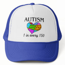 Autism Patch Heart Trucker Hat