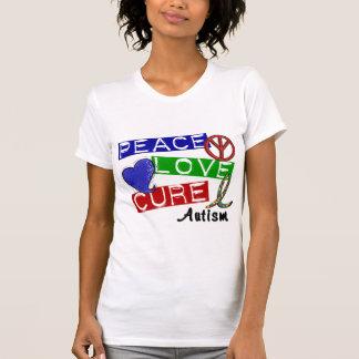 Autism PEACE LOVE CURE T-Shirt