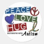 Autism PEACE LOVE HUG Stickers