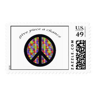 Autism_peace_piece Stamp