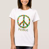 Autism Peace Symbol T-Shirt