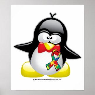 Autism Penguin Poster