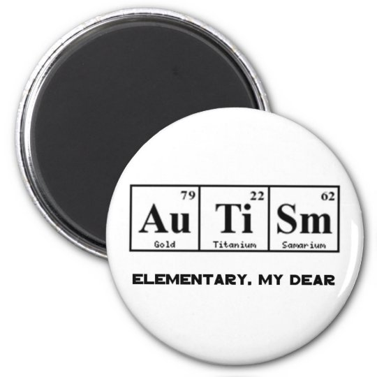 autism periodic table elements sherlock holmes magnet - Periodic Table Autistic
