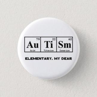 Autism, Periodic Table Elements & Sherlock Holmes Pinback Button