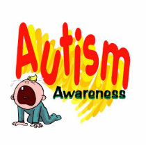 autism, autistic, red, green, children, awareness, gift, office, photo, sculpture, Photo Sculpture with custom graphic design