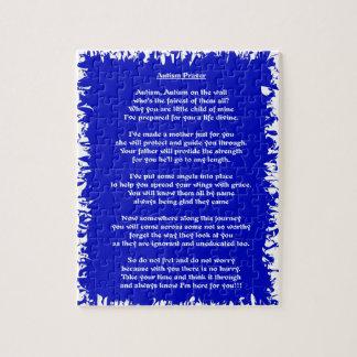 Autism Prayer Blue Jigsaw Puzzle