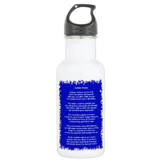 Autism Prayer Blue Stainless Steel Water Bottle