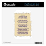 Autism Prayer iPod Touch 4G Skins