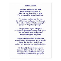 Autism Prayer Postcard