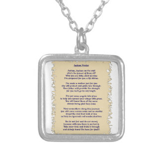 Autism Prayer Silver Plated Necklace