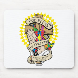 Autism Praying Hands Mouse Pad