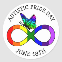Autism Pride Day June 18th Stickers