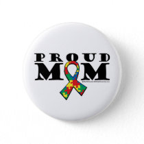 Autism Proud Mom Pinback Button