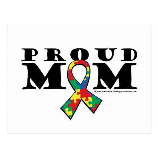 Autism Proud Mom Postcard