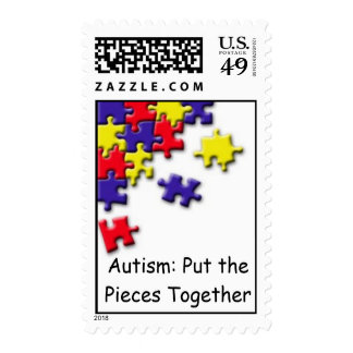 Autism: Put the Pieces Tog... Postage Stamps