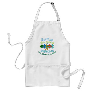 Autism Putting the pieces together Adult Apron