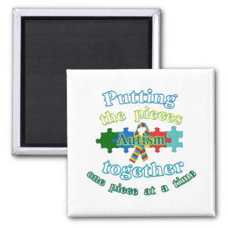 Autism Putting the pieces together 2 Inch Square Magnet