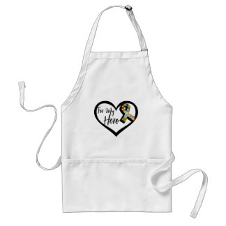 Autism Puzzle Awareness Ribbon For My Hero Adult Apron