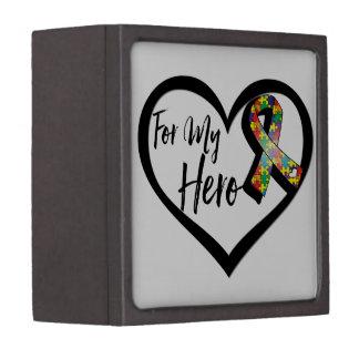 Autism Puzzle Awareness Ribbon For My Hero Jewelry Box
