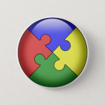 Autism Puzzle Ball Button