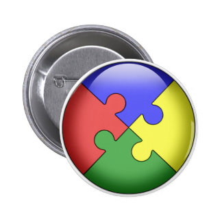 Autism Puzzle Ball 2 Inch Round Button